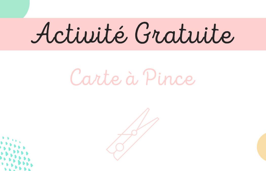Activité Gratuite – Carte à Pince