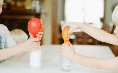 Expérience : gonfler un ballon sur une bouteille 6-12 ans